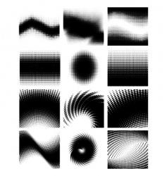 halftone set vector image