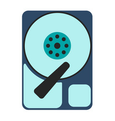 hdd icon flat vector image