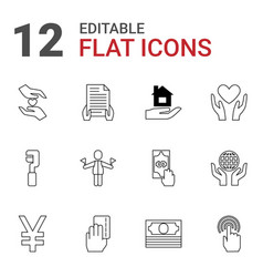 hold icons vector image