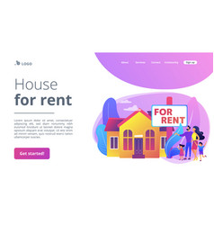 house for rent concept landing page vector image