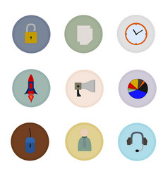 isolated business flat icons vector image