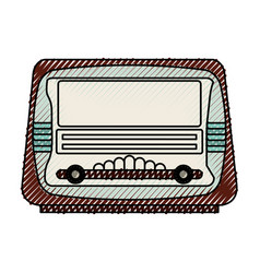 isolated retro radio vector image