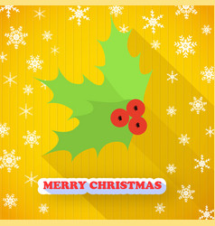 merry christmas decorative postcard vector image