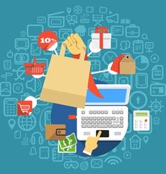 Modern digital shopping vector