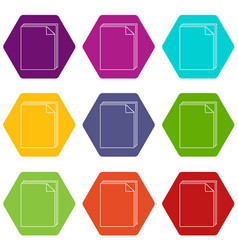 paper icons set 9 vector image