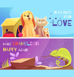 Pet shop banners vector