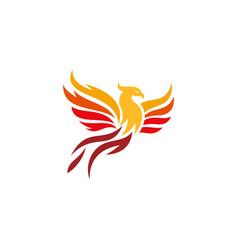 Phoenix fire bird abstract logo template vector