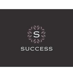 Premium monogram letter S initials logo Universal vector