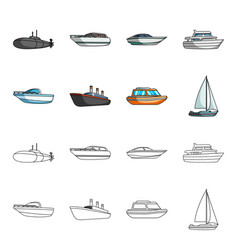 Protection boat lifeboat cargo steamer sports vector