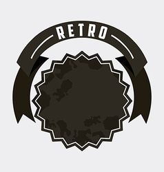 Retro ribbon vector