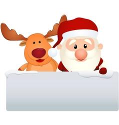 santa claus with reindeer vector image
