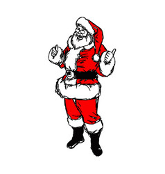 santa claus with thumb up sketch vector image