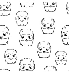Seamless pattern with pomeranian puppies Black vector image