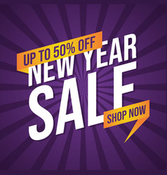 Set new year sale banner for advertising vector