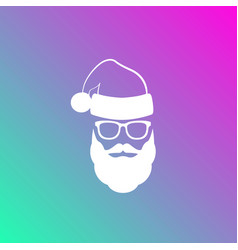 Silhouette of santa claus with a beard vector