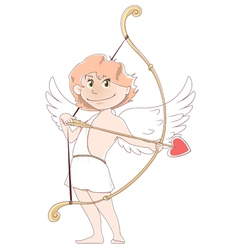 smilling cupid vector image