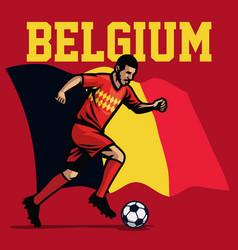 Soccer player of belgium vector