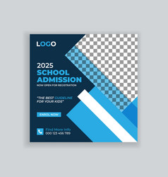 Students admission social media post template vector