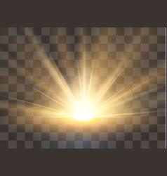Sunrise dawn transparent sunlight special lens vector