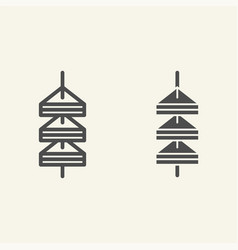 Tapas line and glyph icon canape vector