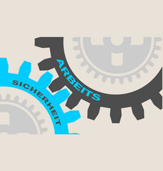 text on the gears vector image