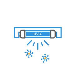 uv quartz light bulb for disinfection ultraviolet vector image