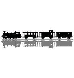 Vintage steam train vector