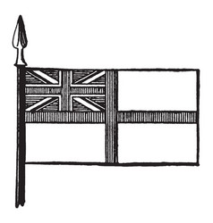 White ensign vintage vector