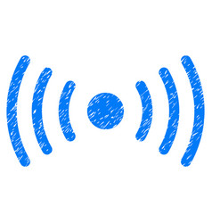 Wi-fi point grunge icon vector