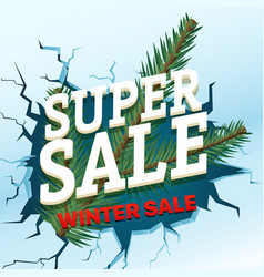 Winter sale concept shopping special offer vector