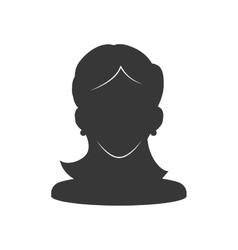 Woman icon Human head design graphic vector image