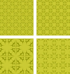 Yellow abstract seamless pattern background set vector image