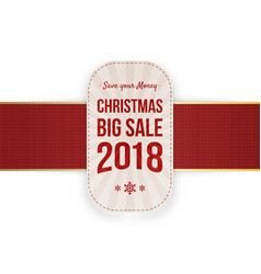 christmas big sale label isolated on white vector image vector image