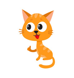 cute and funny red cat character sitting and vector image vector image