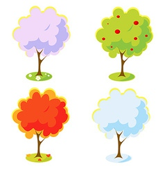 Four seasons tree vector image vector image
