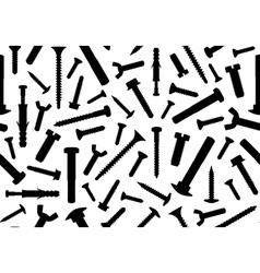 Screws seamless vector image vector image