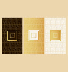 set of flyers in golden color collection business vector image