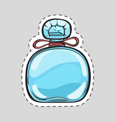 stylish blue perfume flacon for women cut patch vector image