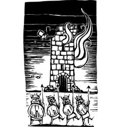Viking Siege vector image vector image