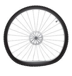Broken bicycle wheel vector image