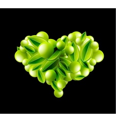 Eco love heart vector image vector image