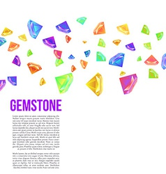Gemstone Seamless Pattern for Presentation vector image