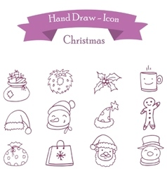 Icon of christmas holiday vector