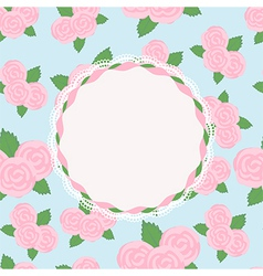Pretty rose design with vacant central cartouche vector image vector image