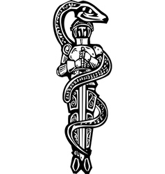 Saint George and Serpent vector image