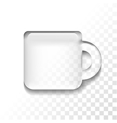 transparent cup vector image vector image