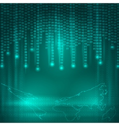 Background with binary code vector image