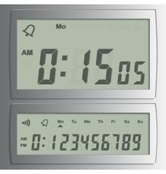 digital numbers vector image
