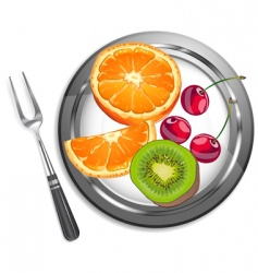 fruit salad vector image vector image