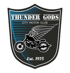 motorcycle club label - Thunder Gods vector image
